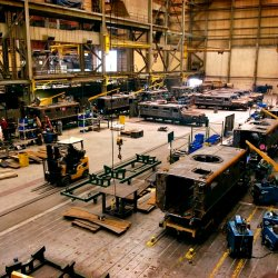 Workers at Force Protection Industries Inc., make Cougar H 4 X 4 Mine Resistant Ambush Protected (MRAP) vehicles at the factory in Ladson, S.C., Jan. 18, 2008. The factory at Force Protection Industries, Inc., one of the biggest MRAP producers, keeping up with demand for the vehicles that Defense Secretary Robert M. Gates has called Òa proven lifesaver on the battlefield.Ó  Defense Dept. photo by Cherie A. Thurlby (released)