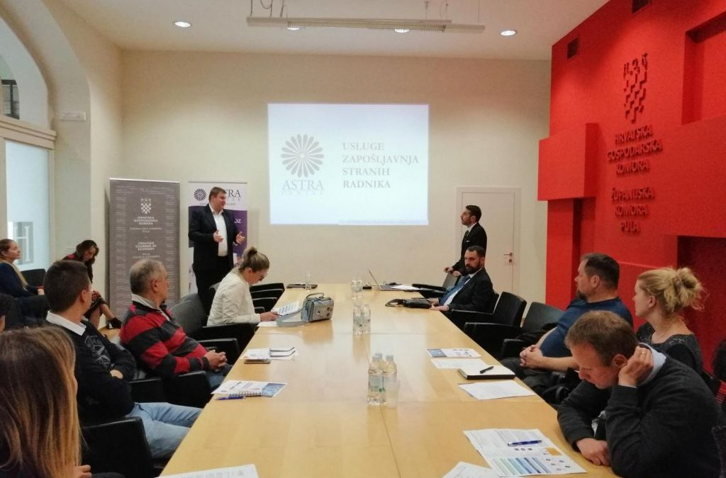 Astra Centar information session in Croatian Chamber of Commerce – Regional chamber in Pula