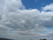 A glimpse of the blue sky.