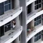 Skulle ta selfie men ramlade ner från 22a våningen