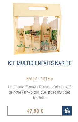 Commander kit karité bio