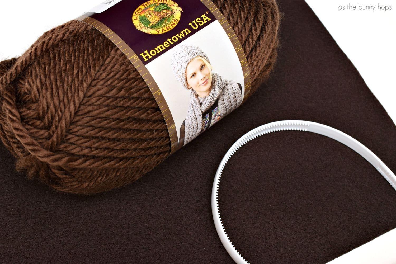 Princess Leia Yarn Headband