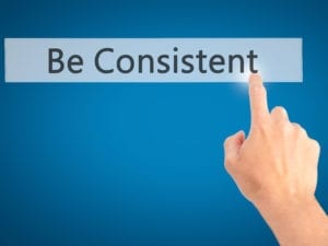 """The words """"be consistent"""" remind us that we must be consistent when making dental office collection calls."""