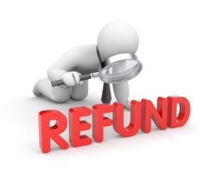 A careful examination must be made before sending a patient or insurance refund.