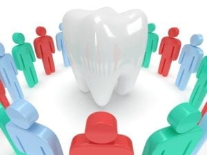 The dental team as a whole is responsible for caring for their patients and their patients' teeth.