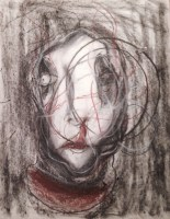 I like raspberries. Dimensions unknown. Dry pastel and charcoal on paper.