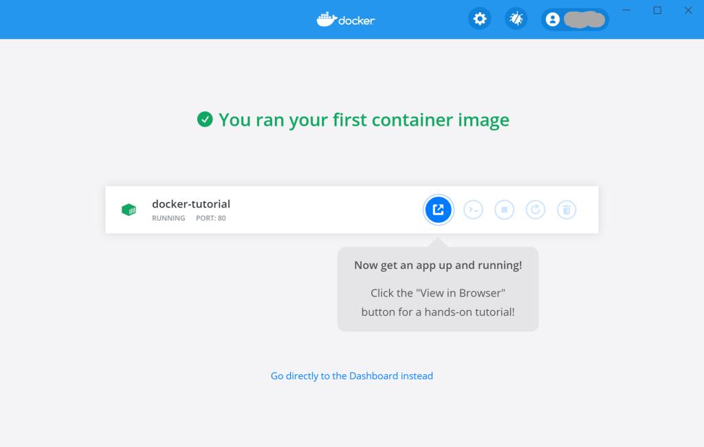 Docker Desktopのチュートリアル終了