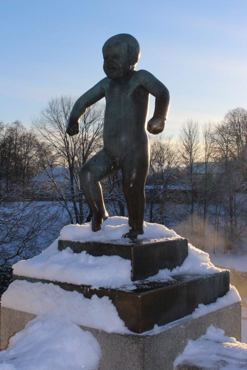 Vigeland Sculpture Park - famous statue at Vigeland Park