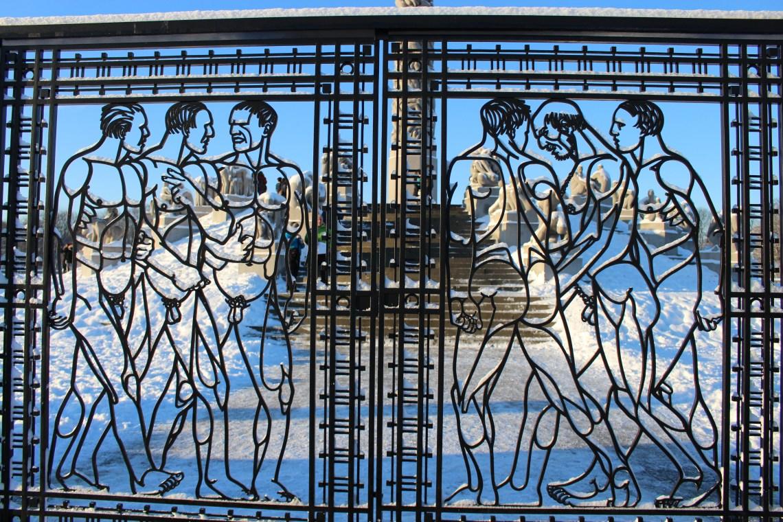Vigeland Sculpture Park - sculpture gates at Frogner Park in Oslo