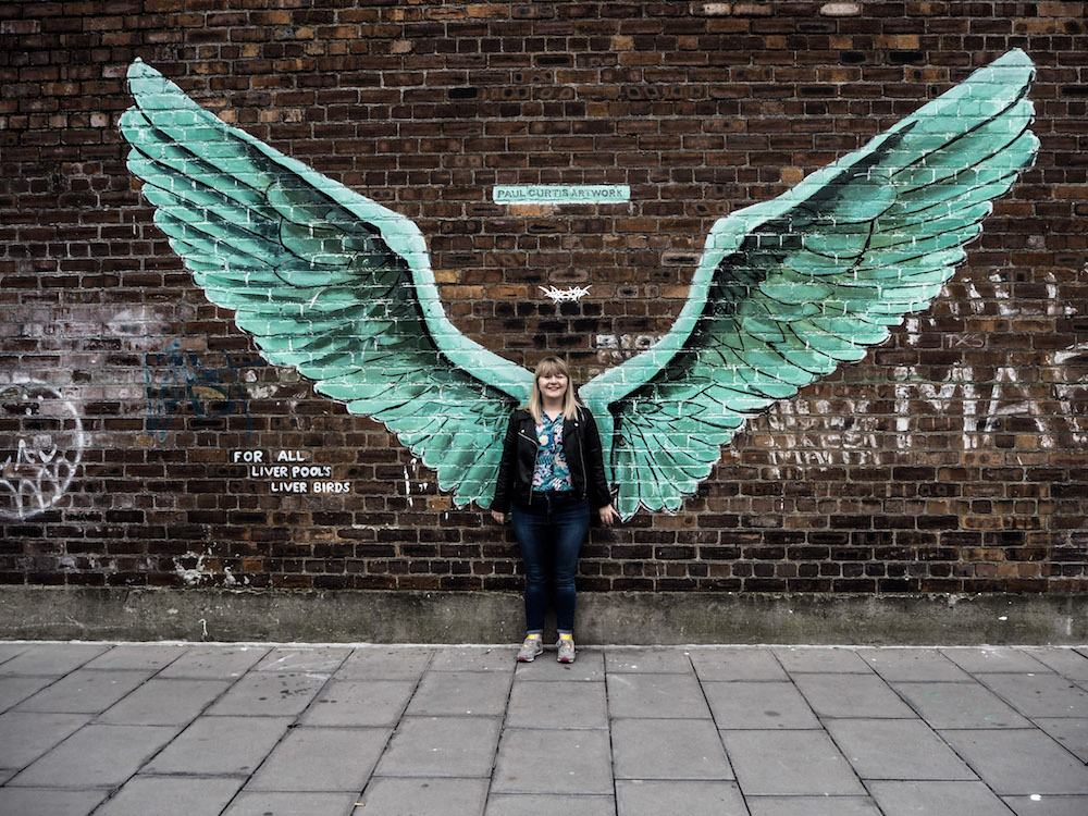 Liver Bird Wings Mural, Liverpool - A Weekend In Liverpool