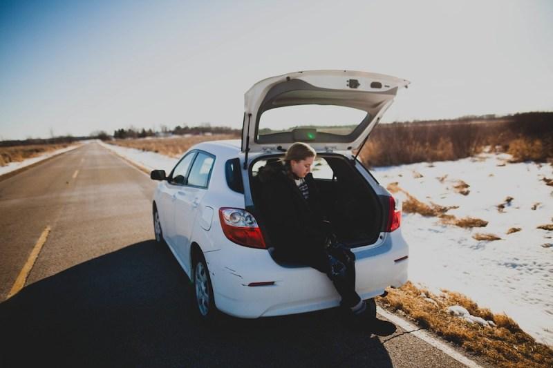 Roadtrip Girl In Car