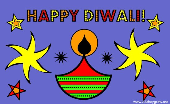DIWALI CARD COLOURED