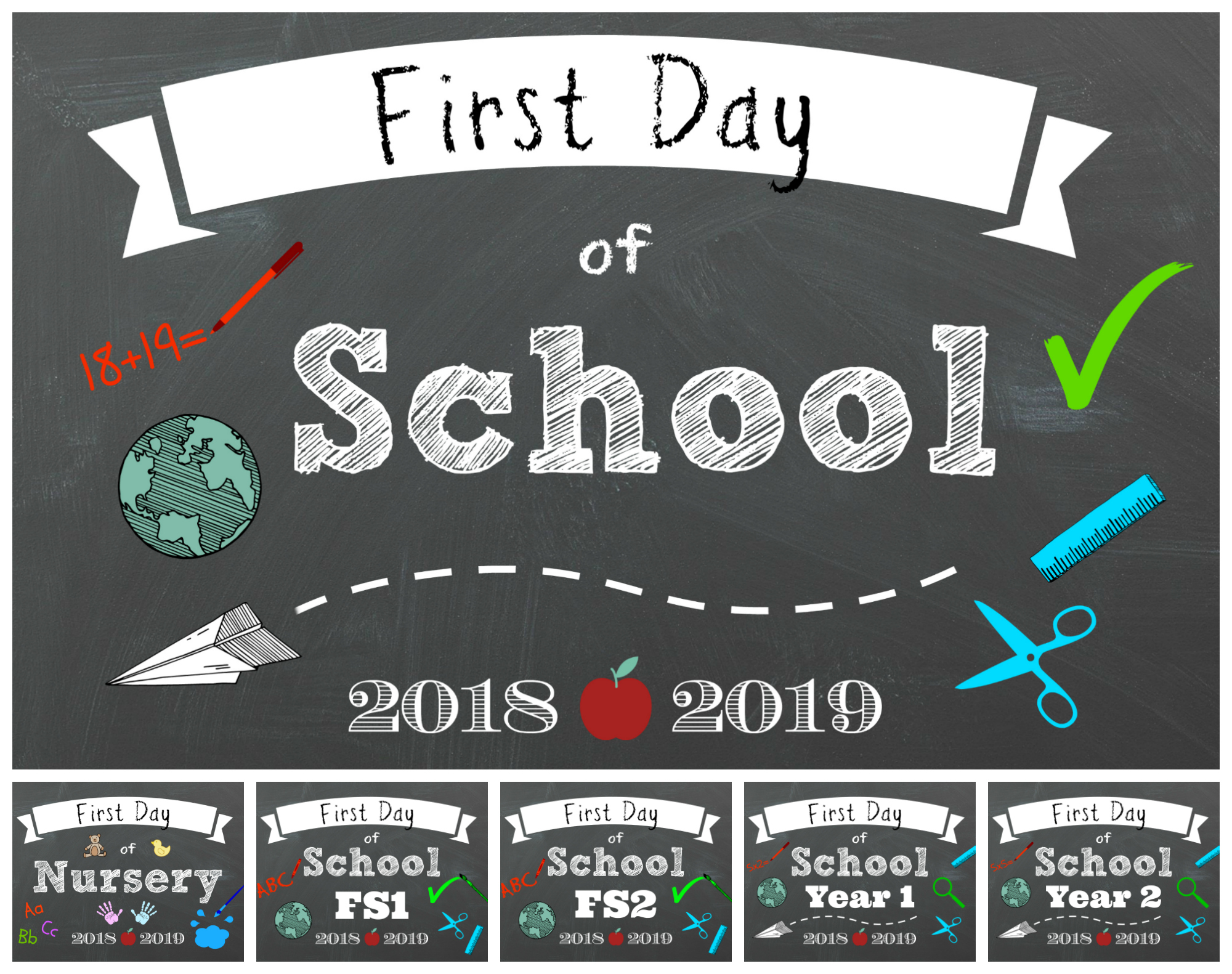 picture about First Day of School Printable identify Very first Working day of Higher education 2018 Cost-free Printables - AS they improve