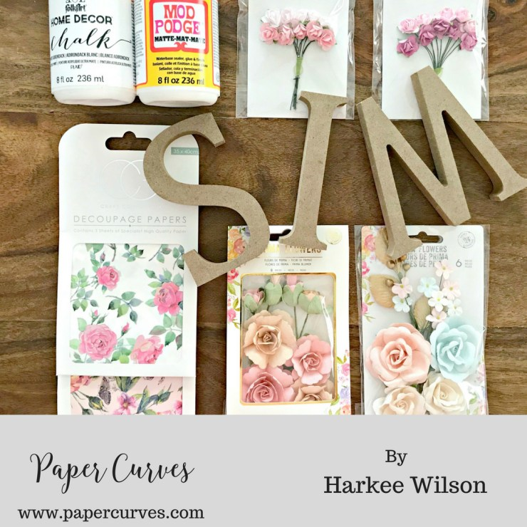 Diy Floral Letters With Decoupage As They Grow