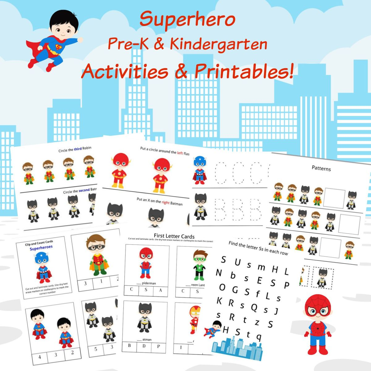 FREE Superheroes Printables & Activities