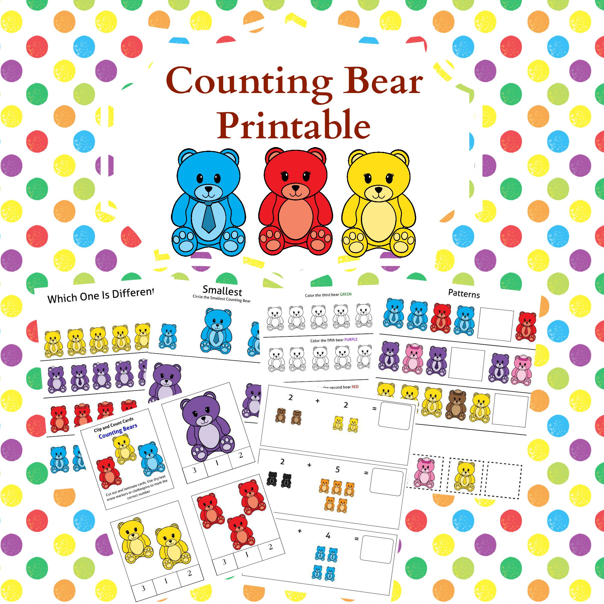 Counting Bears Printable