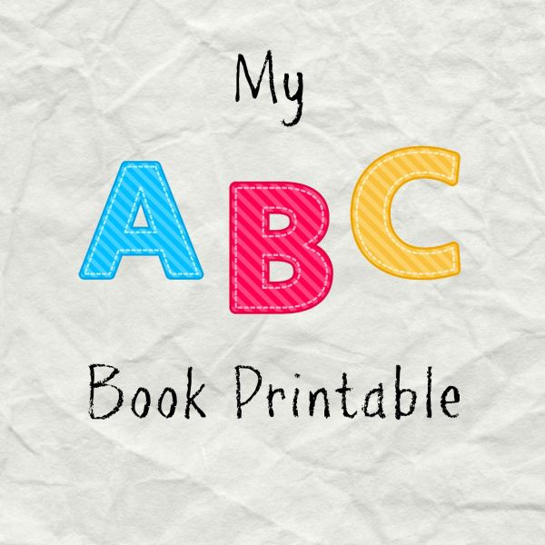 My ABC Book Printable