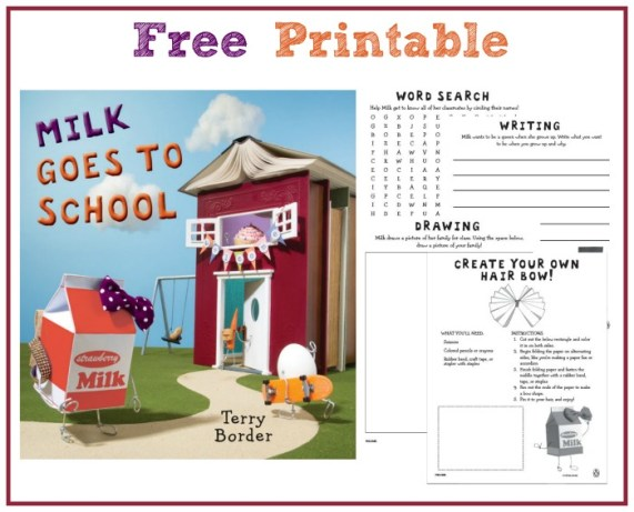 Milk Goes To School Printable