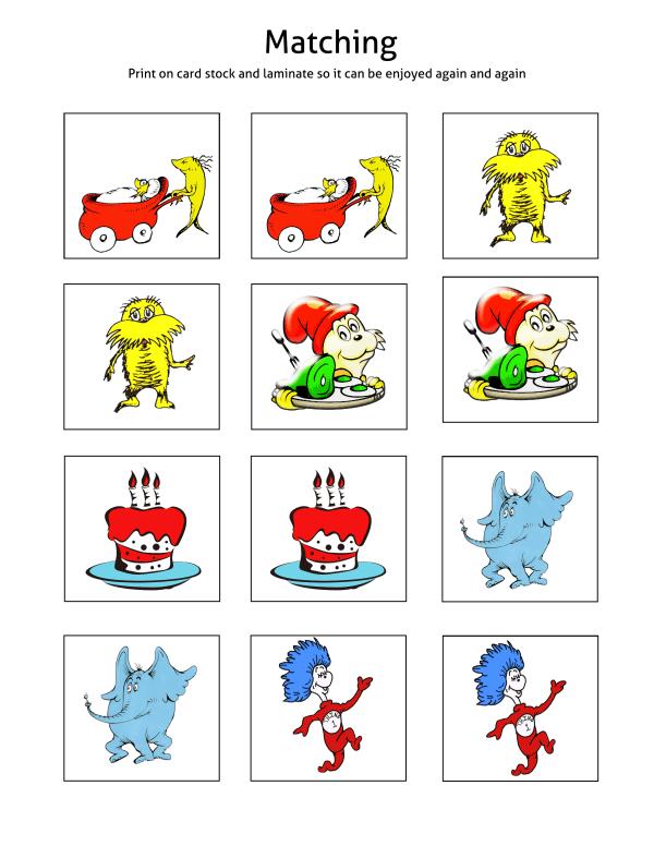 Dr. Seuss Printable