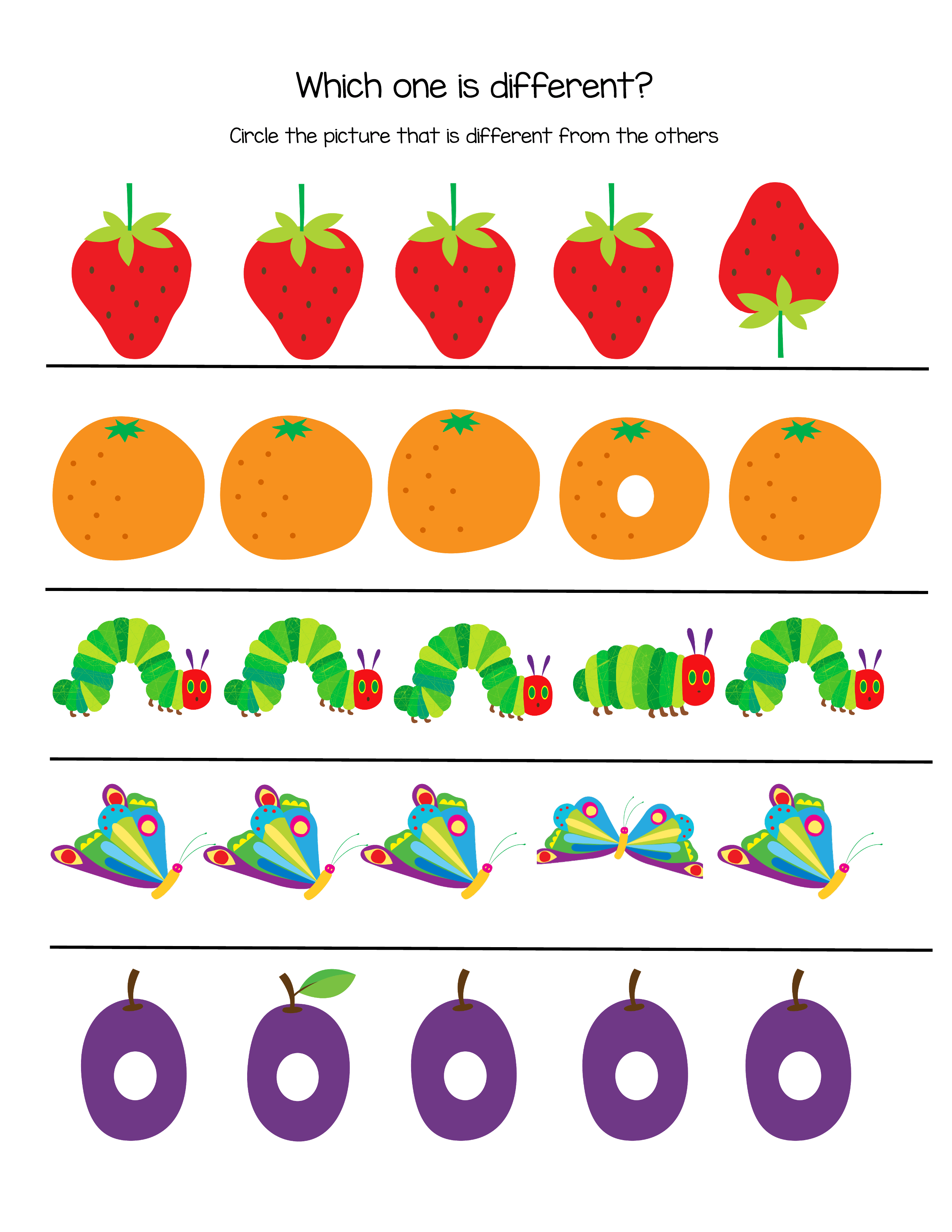 The Very Hungry Caterpillar Printable - 96 Total Pages