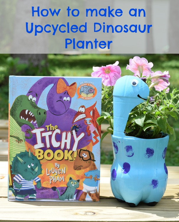 The Itchy Book & DIY Upcycle Dinosaur Planter