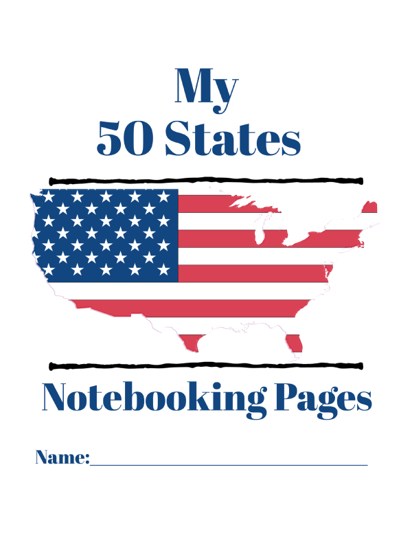 50 States Notebook pages