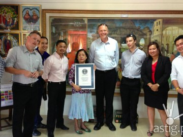 Gina Gil-Lacuna Guinness World Record Puzzle Mansion