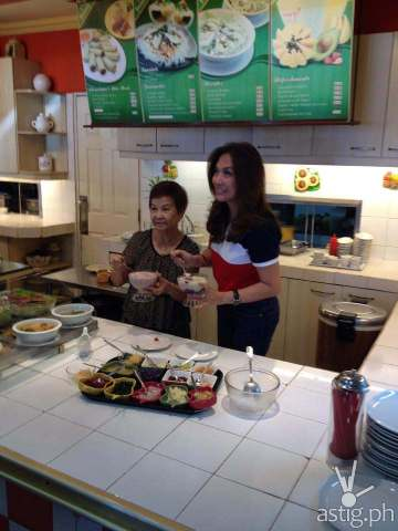 Karen Davila with Cecilia Macainag at Ponciana's Kitchen