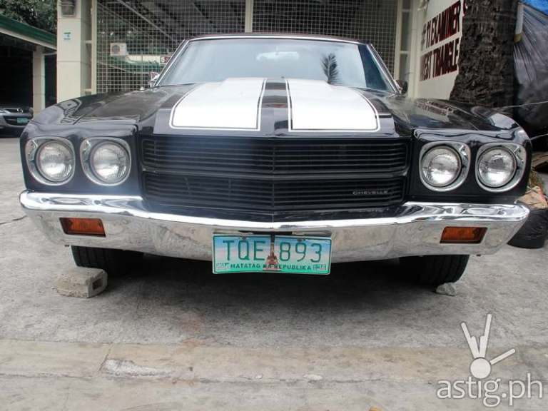 Angel Locsin's dream car: a 1970 Chevrolet Chevelle