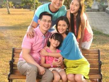 Sir Chief and Maya with the Lim family