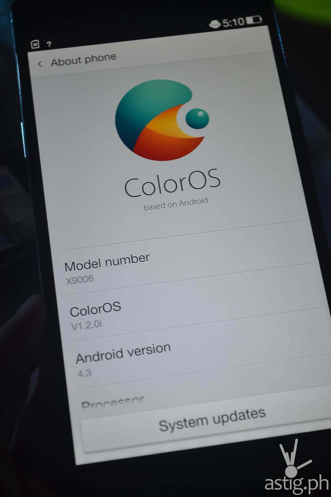 OPPO Find 7 ColorOS details