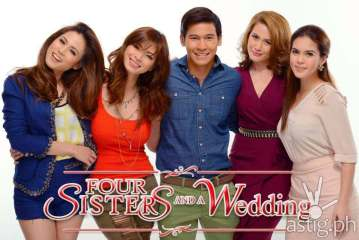 Toni Gonzaga, Angel Locsin, Enchong Dee, Bea Alonzo, and Shaina Magdayao in Four Sisters and a Wedding