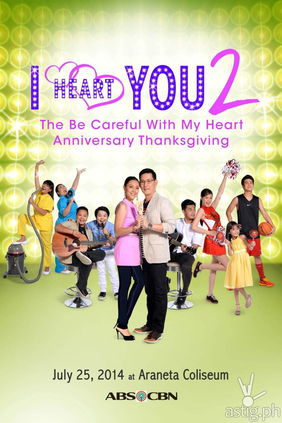 Be Careful With My Heart I Heart You 2 Anniversary Thanksgiving concert poster