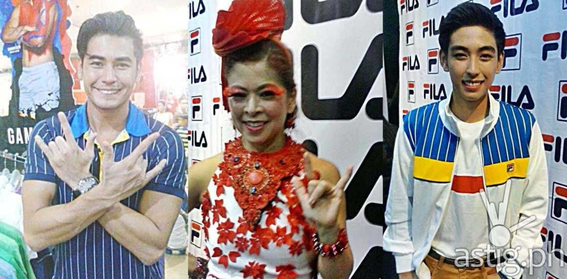 Fabio Ide, Tessa Prieto-Valdes, Michael Martinez at the FILA Meet & Greet event