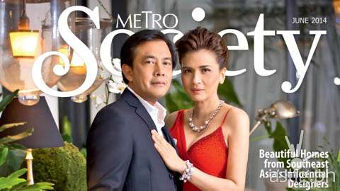 Metro Society features Conrad Onglao and Zsa Zsa Padilla in its Home and Design issue