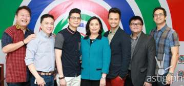 Chito Roño (Vhong's manager), Arnold Vegafria (Billy's ma nager), Vhong Navarro, ABS-CBN broadcast head Cory Vidanes, Billy Crawford, business unit head Reily Santiago, and TV pr oduction head Laurenti Dyogi