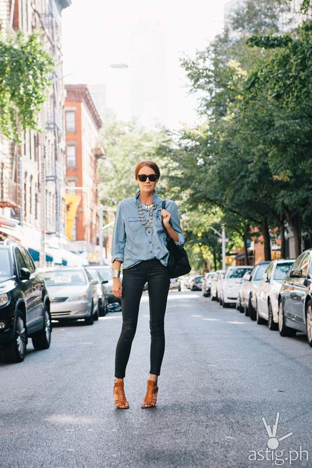Denim on denim - skinny jeans