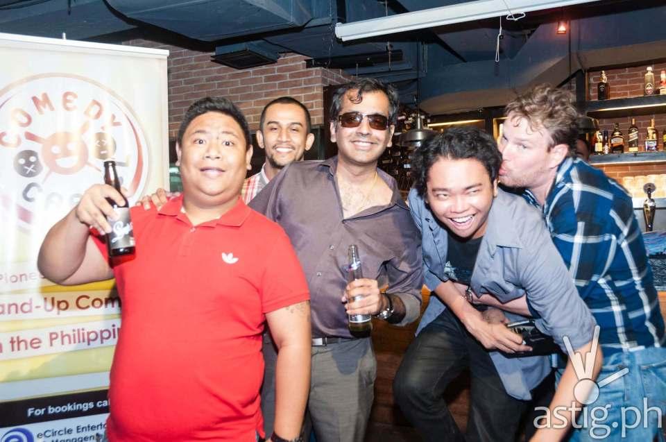 Nonong Dyamante, Miguel Alejandrino, Haresh Dashwani, Rene Cruz, and Justin Harmon at Comedy Cartel