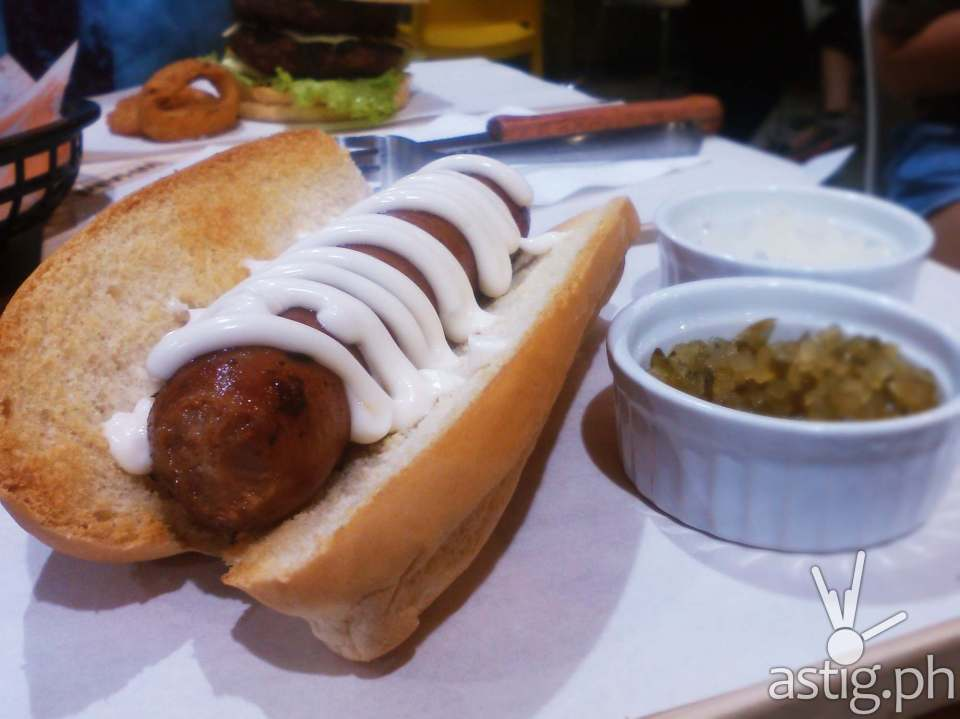 The new Wham! Beer Sausage (149 PHP) is just yummy!