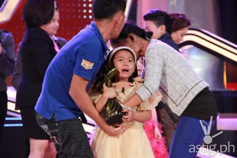 The Voice Kids grand champion Lyca Gairanod with her parents