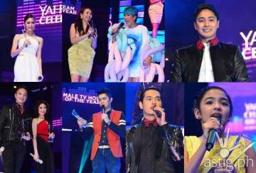 Yahoo Celebrity Awards winners Kim Chiu, Karylle, Vice Ganda, Coco Martin, Bamboo, Sarah Geronimo, Vhong Navarro, Jake Cuenca, Andrea Brillantes (PHOTO COURTESY OF PUSH.COM.PH)