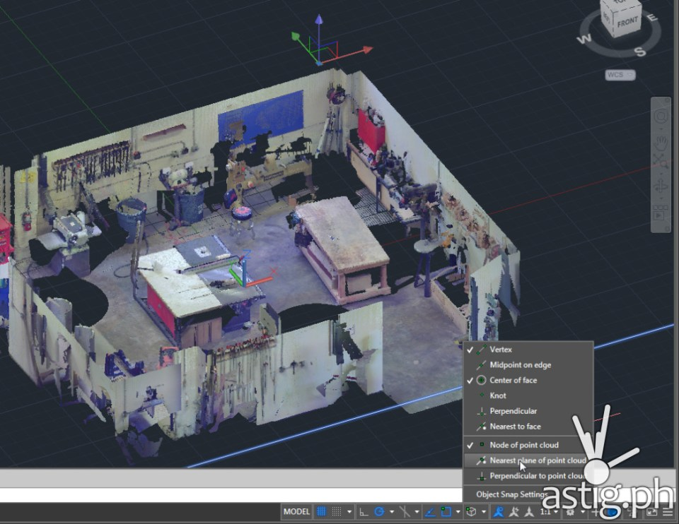 AutoCAD 2015 adds tools that make it easier to work with point clouds, including a new Point Cloud Manager palette, intuitive cropping capabilities, and new point cloud object snap modes.