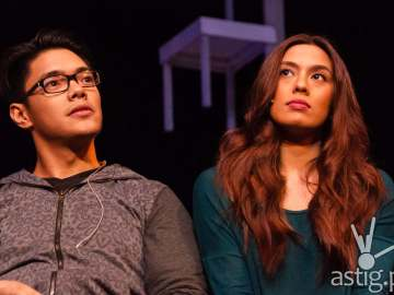 Nikki Gil and Joaquin Valdes in The Last 5 Years