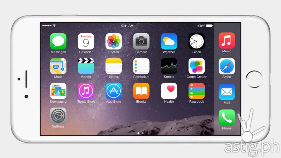 Apple iPhone 6 landscape home