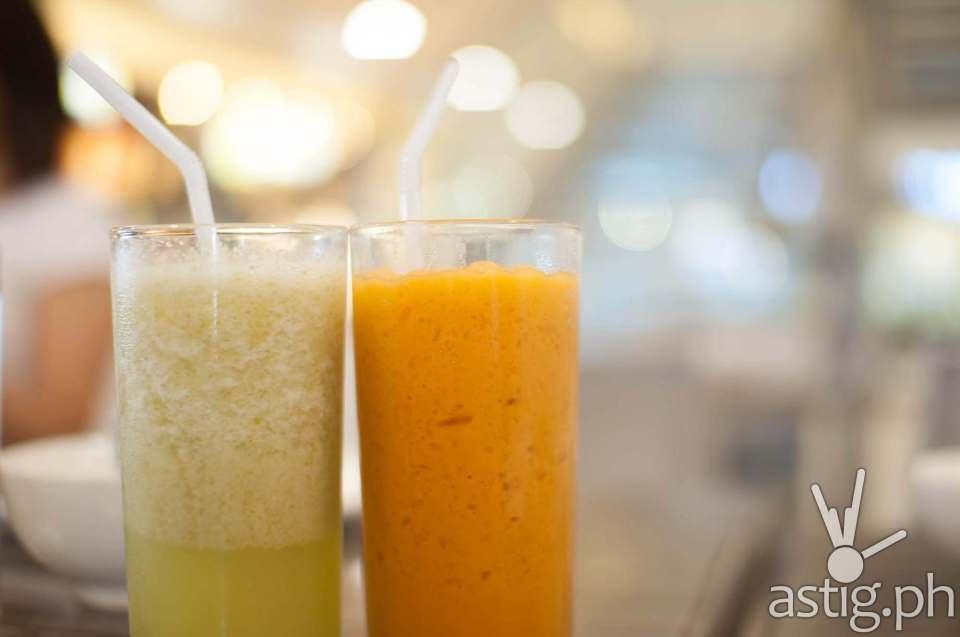 Kamias Shake (55 PHP) and Thai Milk Tea (55 PHP)