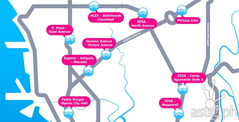 Infographic of 18 of the most flood-prone roads according to MMDA (looloo)