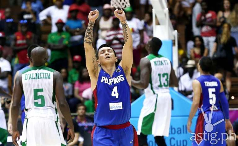 Jimmy Alapag celebrates the victory against Senegal at the 2014 FIBA Basketball World Cup (photo: FIBA.COM)
