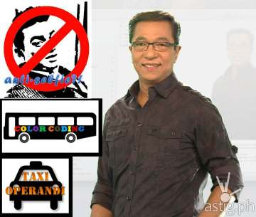 Ted Failon Ngayon MMDA bus color coding scheme anti selfie bill taxi operandi