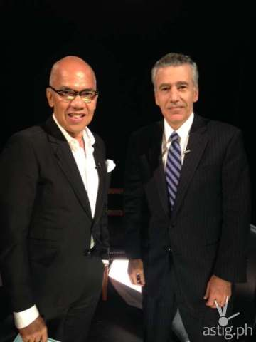 Boy Abunda with US Ambassador Goldberg