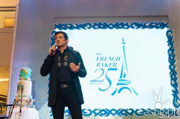 Gary Valenciano at the 25th Anniversary Celebration of The French Baker